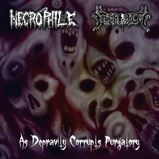 NECROPHILE / NECRORITE - As Depravity Corrupts Purgatory (7 Split EP)